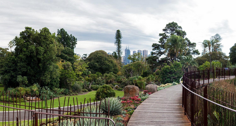 Melbourne Botanic Gardens Guilfoyle's Volcano