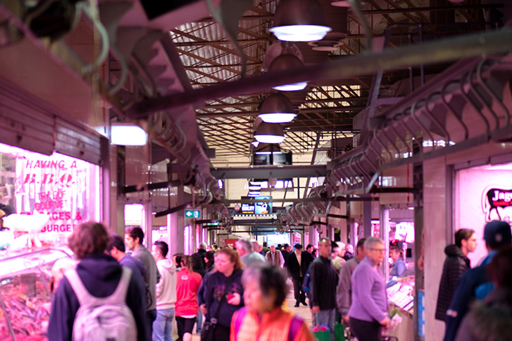 Queen Victoria Markets Fresh Meat and Fish Hall