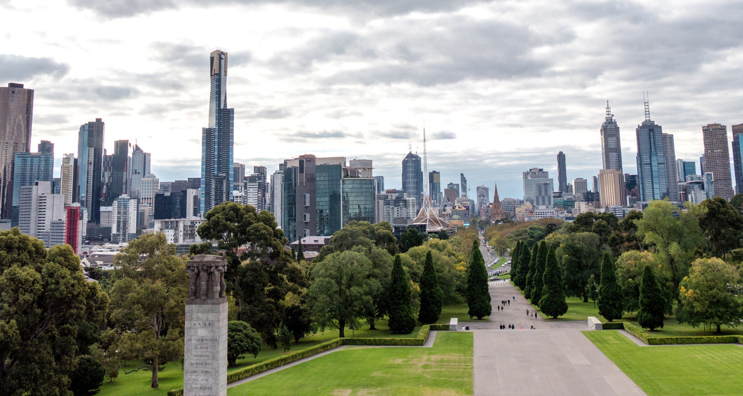 Shrine of Remembrance balcony view