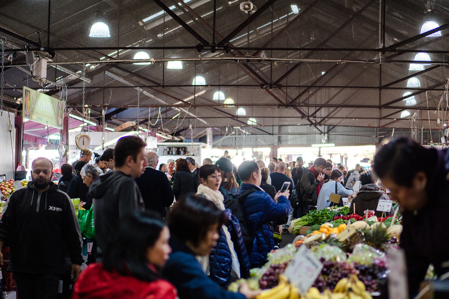 The Queen Victoria Market Fruit and Vegetable Stalls