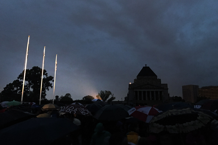 Shrine of Remembrance ANZAC Day