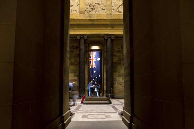 Inside the Shrine of Remembrance