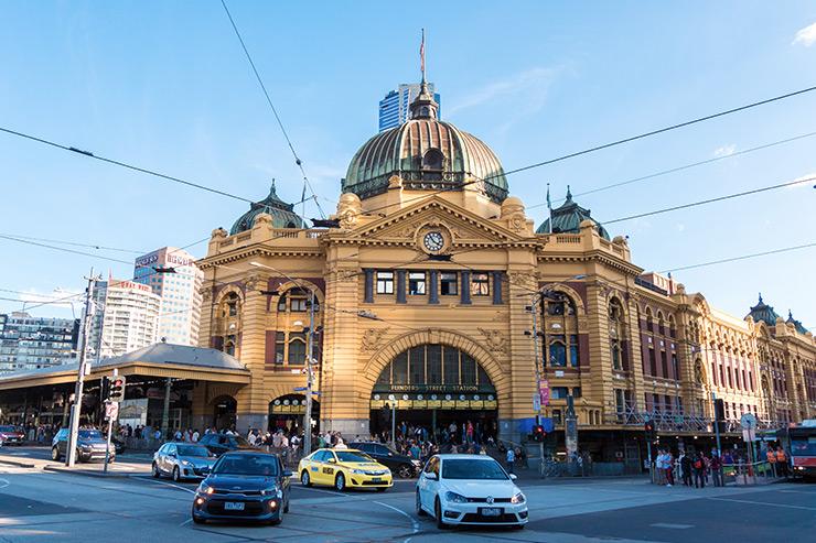 Federation Square Flinders Street Station