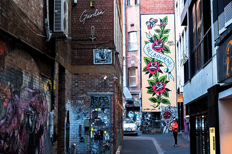 Melbourne Street Art ACDC Lane