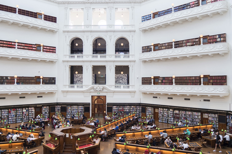 State Library Victoria Dome Reading Room
