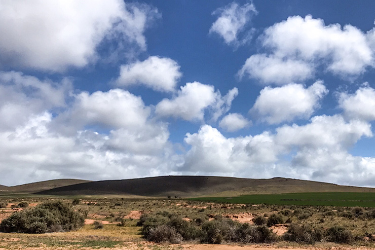 Clouds in Burra on the Heysen Trail