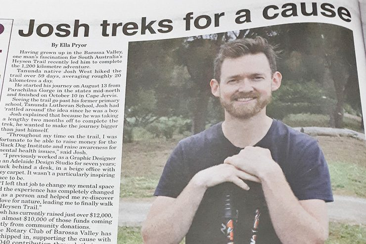 Trekking West Leader Newspaper Article