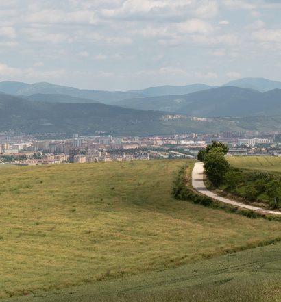 Camino Frances Pamplona to Obanos Alto del Perdón