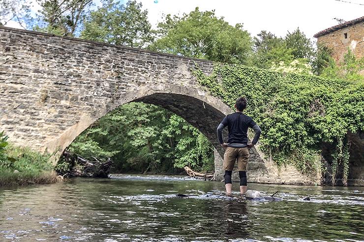 Larrasoaña Río Arga Camino