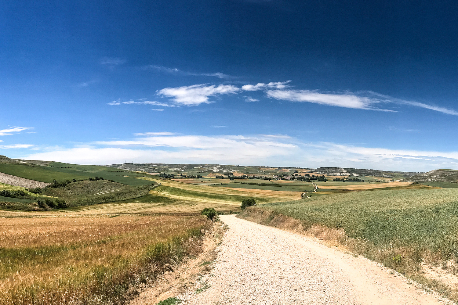 View of the Meseta at San Bol Camino Francés